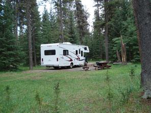 Een heerlijk plekje op Campground Whistlers