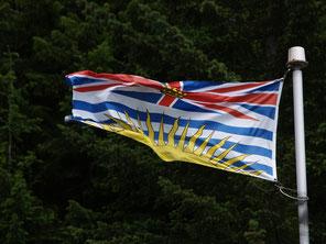 De vlag van British Columbia
