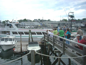 Boarding the Island Lady for our cruise