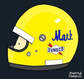 Helmet of Mark Donohue by Muneta & Cerracín
