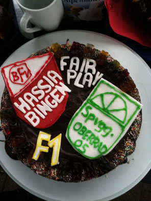 Tolle Idee.....Der Fair-Play-Kuchen