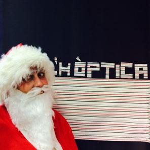 Papá Noel en el Photocall de L'Hòptica
