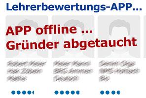 Lehrerbewertungs-APP nach 70.000 gesammelten Datensätzen offline Bild: spagra