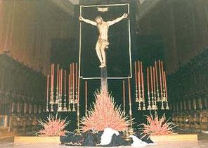 Montaje realizado para la celebración del pregón de la Semana Santa del 2003, en la S.I.M de Valladolid.