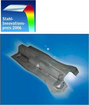 Stahl-Innovationspreis für lösungsmittelhaltiges, Aluminium basiertes Beschichtungsmaterial zur Vermeidung von Zunder bei der Warmumformung oder dem Presshärten