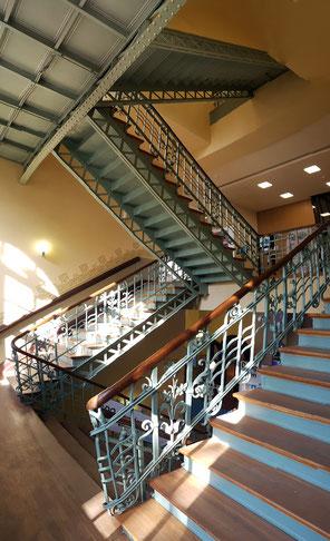 Treppenhaus der Kongresshalle Leipzig aus der Gründerzeit, Baujahr ca. 1900