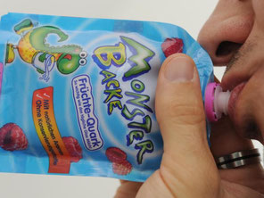 Der Früchtequark «Monsterbacke» enthält mehr Zucker als reine Milch. Foto: Franziska Kraufmann/Archiv