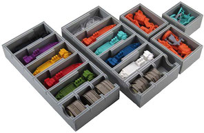 folded space insert organizer foam core