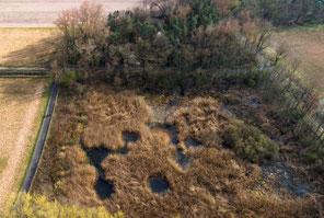 Grube 2020 Drohnenbefliegung im März, Foto: G.Hagemeister