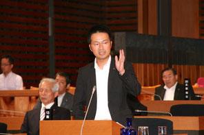 9月5日、本会議で質問する大国陽介