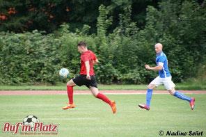 """""""Addi"""" in Aktion beim Pokalspiel gegen den FC Sterkrade."""