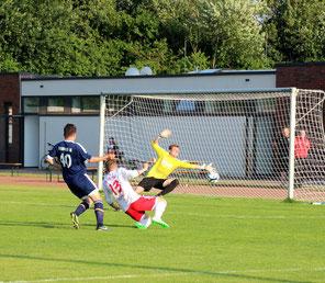Adrian Reiß erzielte das 1:1. Foto: SV Fortuna.