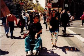 ▲憧れのバークレーの街を姉と散歩