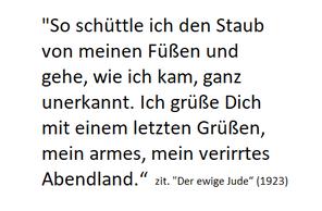 """In seinem Versdrama """"Der ewige Jude"""" (veröffentlicht 1923) lässt Mühsam seine Hauptfigur Ahasver geradezu seherisch das Kommende voraussagen"""