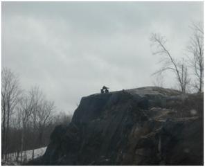 Inukshuk auf einem Felsen