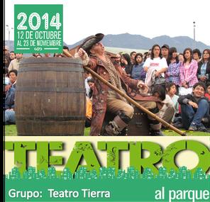 Teatro Tierra en Teatro al Parque 2014