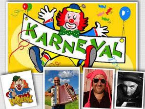 karneval in Köln mit Akkordeon und Gesang