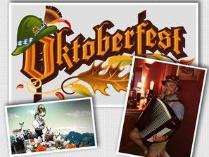 Akkordeonspieler für Oktoberfest