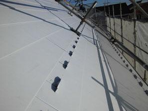 屋根(ガルバニウム) 塗装中 錆止め