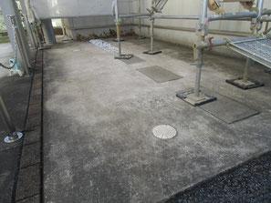 駐車場土間コンクリート 塗装前