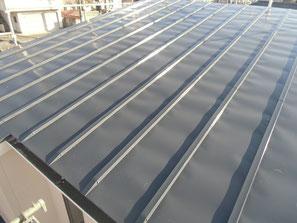 屋根(鉄板) 塗装後