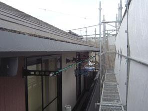 破風板、軒雨樋 塗装前