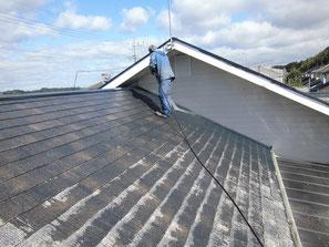 屋根(コロニアル) 高圧洗浄