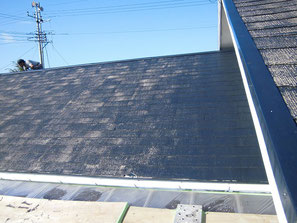 屋根(コロニアル) 下塗り