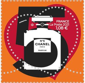 2021 - CHANEL N° 5 : TIMBRE A TARIF LENT A 1,08 €