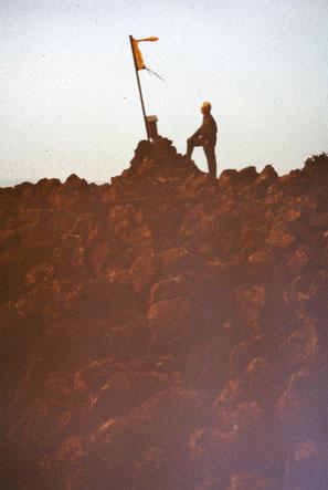 Josef Malek auf dem Gipfel des Dietrichberges 1984 - Archiv W.Malek