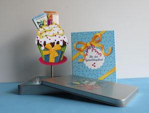 Geschenkbox Happy Birthday für Geldgeschenke