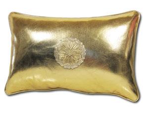 Mina Design Lederkissen Leder Kissen gold Sitzkissen Zierkissen Sofakissen leather cussion pillow coussin en cuir