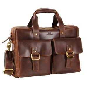Mina Design Leder Rucksack Aktentasche Leder Reisetasche Sporttasche Business Laptop Lehrer Tasche braun Almadih