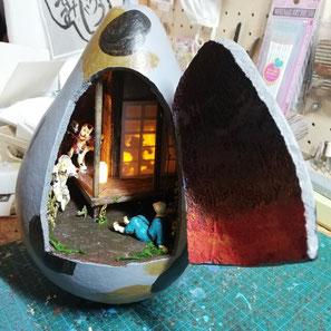ジオラマひょうたん 猫又の家