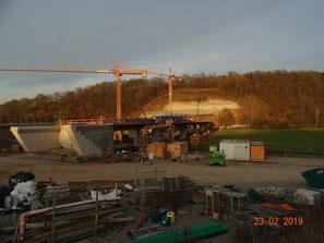 Ulfetalquerung und Südportal Tunnel Boyneburg