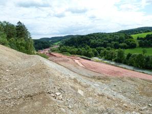 Autobahnbau Walburg in Richtung Waldkappel am Fuße des Meißner