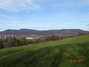 Markantes Profil der Goberthöhen (Nordwestliche Randplatten des  Thüringer Beckens)