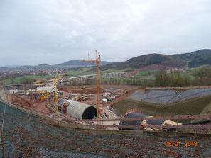 Nordportal Tunnel Trimberg und Wehretalbrücke