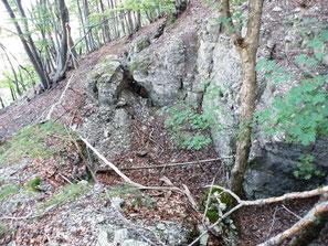 Spalten und Höhlen im Muschelkalk