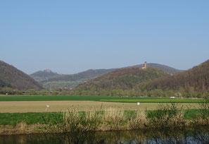 Hanstein und Ludwigstein, 2-Burgen -Blick