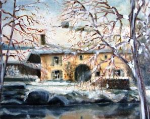 * 439- Une ferme sous la neige à Dommartin-lès-Remiremont 41 X 33