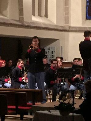 """Michael Lettner spielte das mit der Panflöte gespielt bekannte Stück """"Einsamer Hirte""""  von James Last auf der Trompete."""