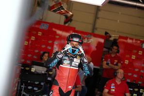 Marcel Schrötter 2016 in der Moto2 am Sachsenring für das AGR Team