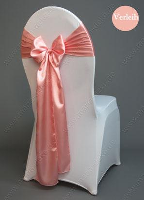 Stuhlschleifen in Farbe lachsrosa mieten