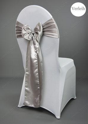 silber Stuhlschleifen mieten