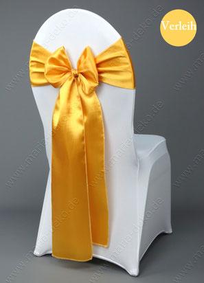 Stuhlschleifen in Farbe gold mieten