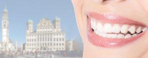 Praxis-Website mit dem gesamten Leistungsspektrum der Zahnärztin Gregorek in Augsburg