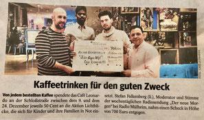 Cafe Leonardo© - WAZ Mülheim vom 15.01.2020