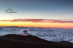 Bild: Mauna Kea Hawaii nach Sonnenuntergang