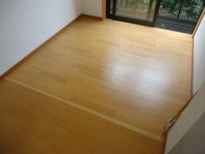 増築部分の床